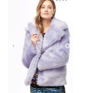 Forever 21 Oversized Lavender Faux Fur Coat